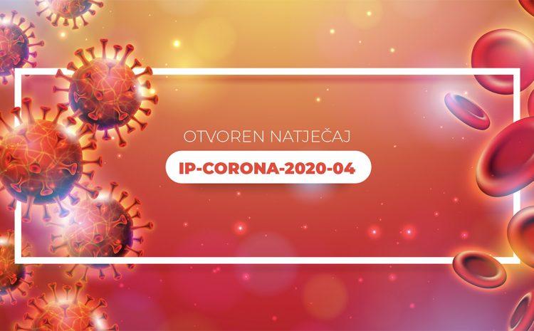 Otvoren natječaj IP-CORONA-2020-04