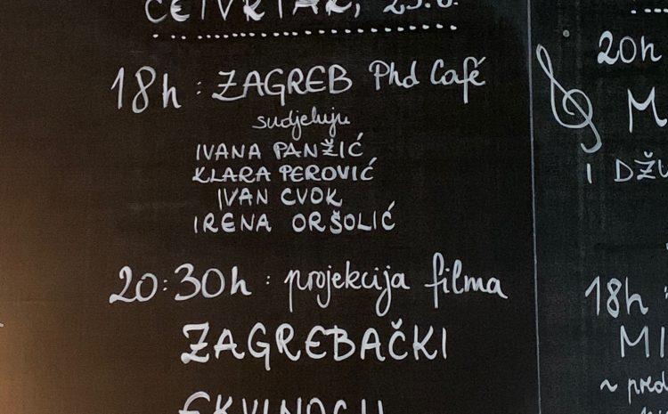 Održani Zagreb PhD Café #3 i Osijek PhD Café #1