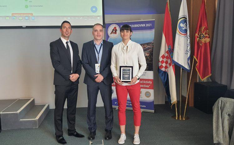 Doktorandica HRZZ-a dobitnica nagrade FIEP-a za mlade znanstvenike za 2019./20. godinu