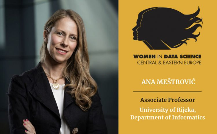 Assoc. Prof. Ana Meštrović presenting at conference Women in Data Science on 8 March